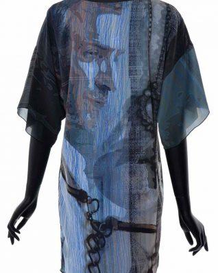 VOLT Chiffon Dresses Black Blue