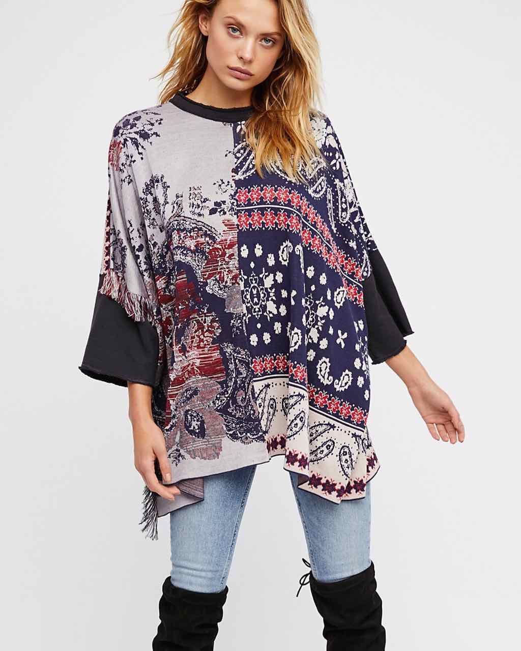 Free People Patchwork Tunic with Paisley