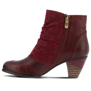 L'Artiste by Spring Step Burgundy Booties