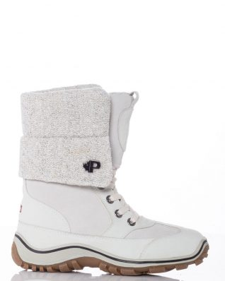 Pajar Leather Boots with Knit detail