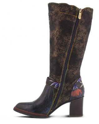 L'Artiste Tall Boots in Floral Design