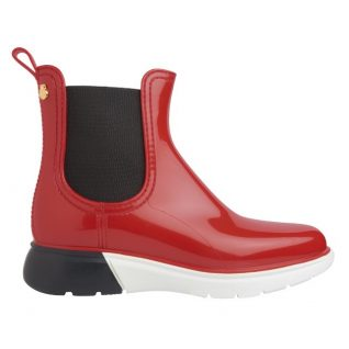 Lemon Jelly Rainboots Wing, Red