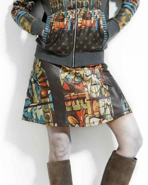 VOLT Leather Skirt