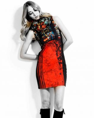 VOLT Black Red Dress