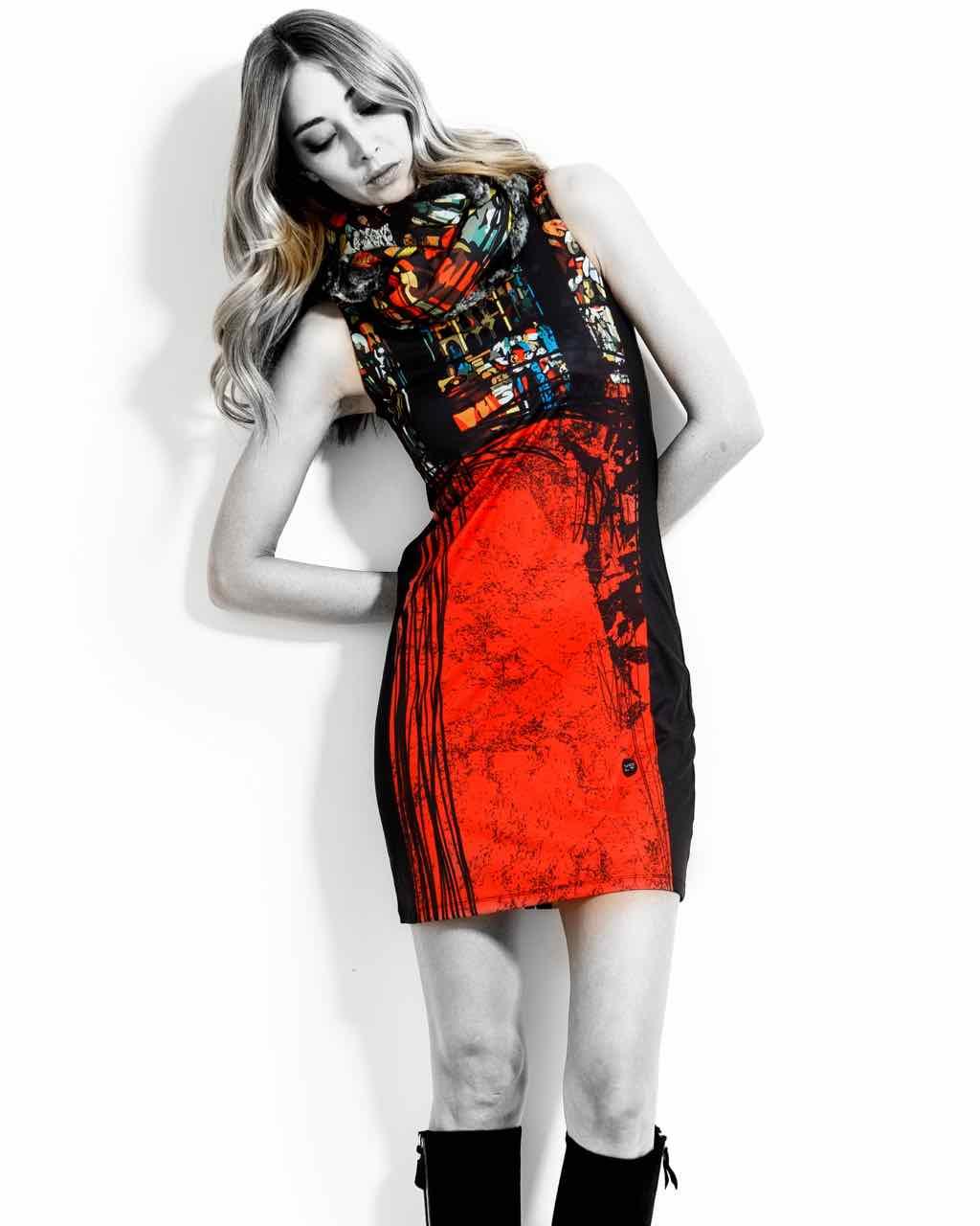 VOLT Black Red Dress