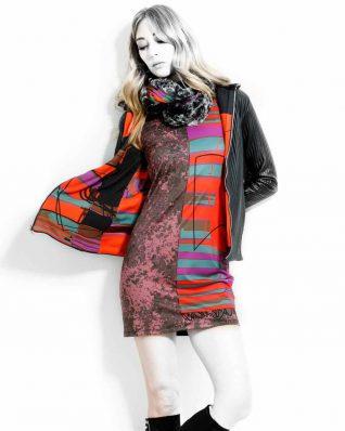 VOLT Sleeveless dress pop