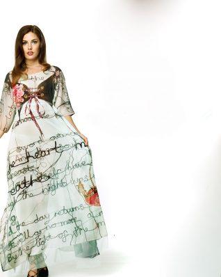 IPNG Design Shawl Dress Tea Time