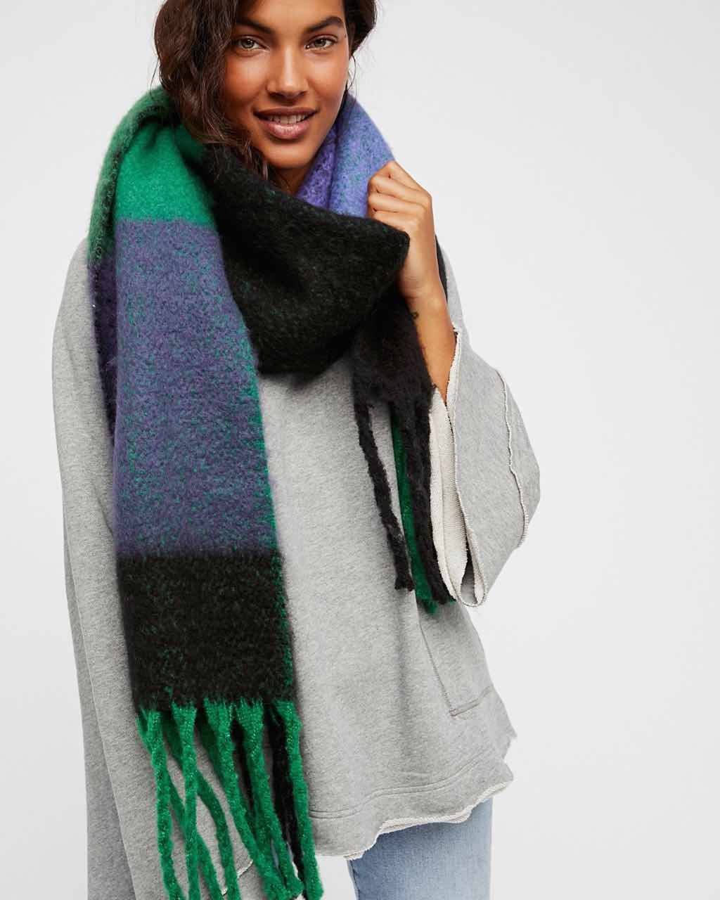Free People Cameron Brushed Winter Scarf