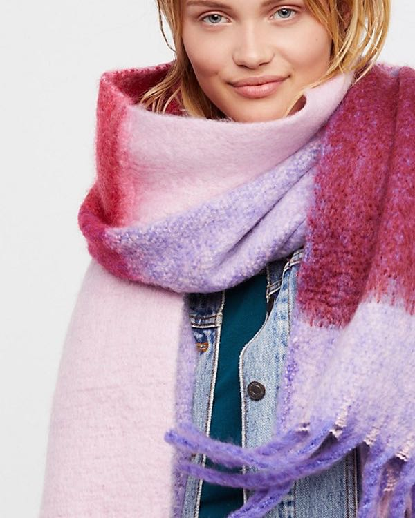 Free People Cameron Brushed Scarf Purple