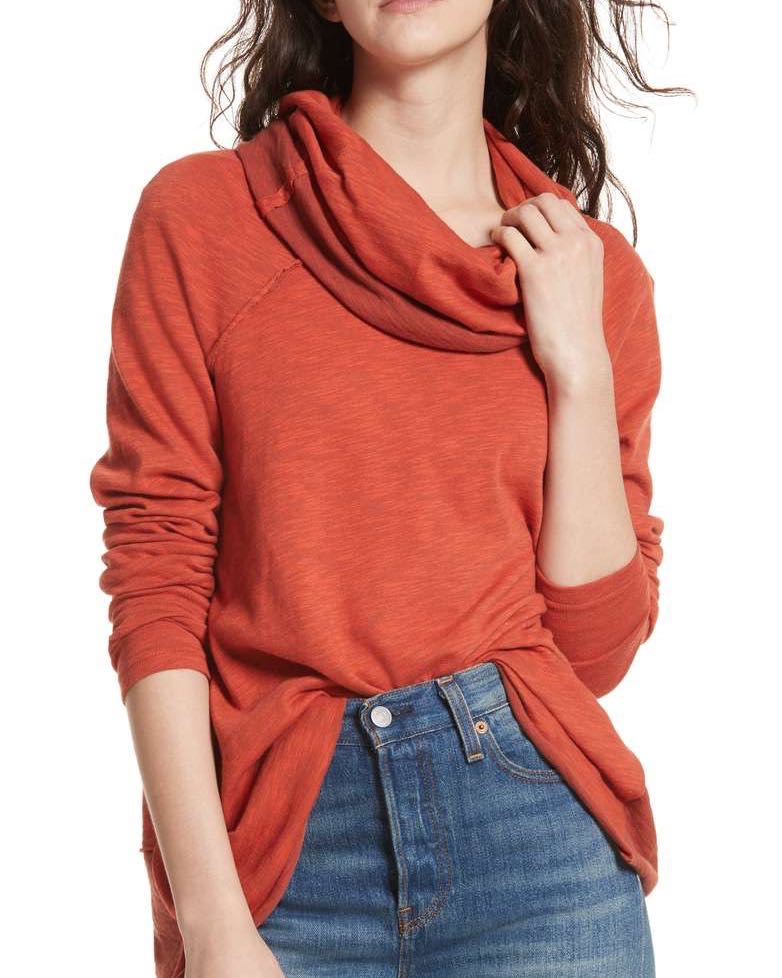 Free People sweater with Cowl Neck