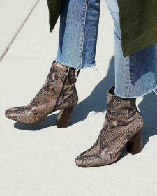 Free People Snake Skin Boots