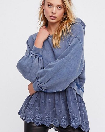 Free people Sweet Streets Hoodies Blue