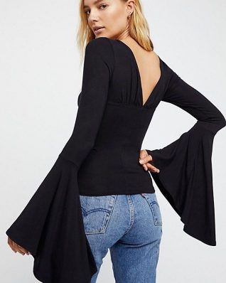 Free People What a Babe Black