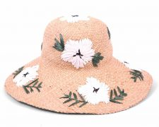Gottex Beach Hat with White Flowers
