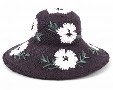Gottex Hat Black White Floral