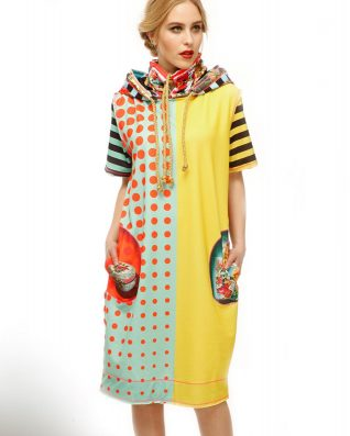 IPNG Yellow Red Comfort Dress
