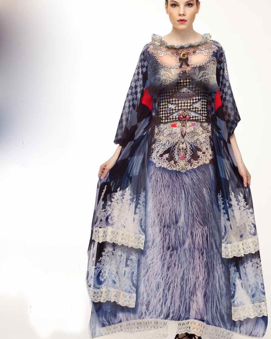 IPNG Long Shawl Dress