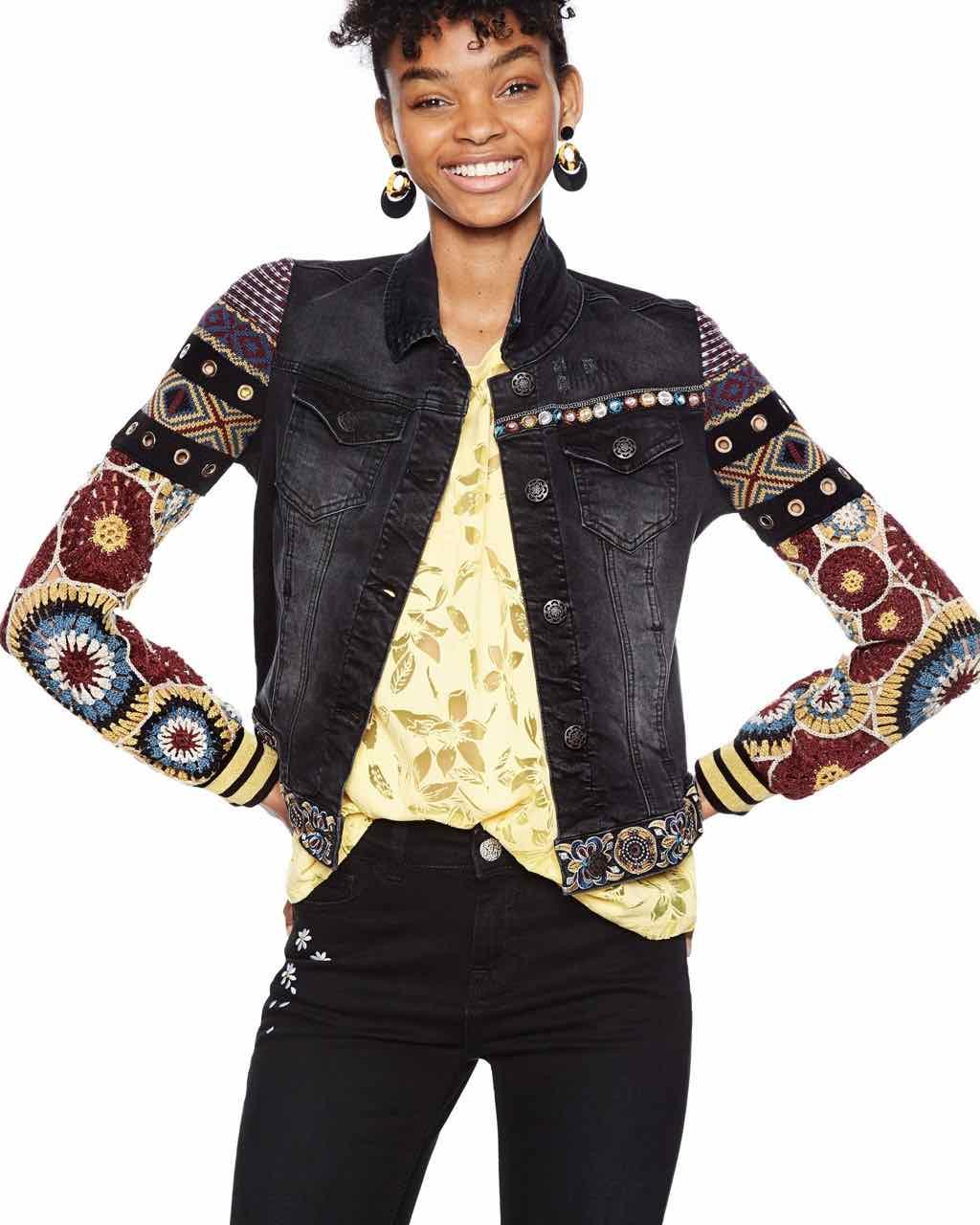 18SWED19_5008 Desigual Denim Jacket Alessia Buy Online
