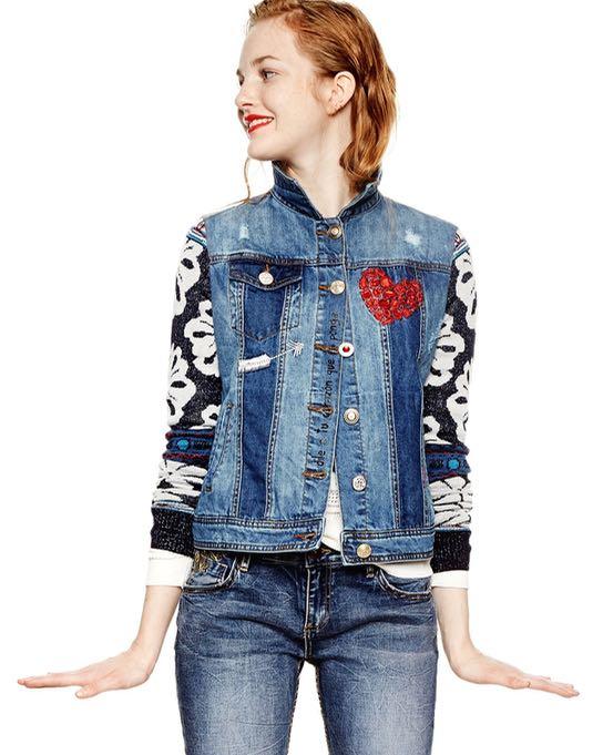 18SWED38_5183 Desigual Denim Jacket Gaelle Buy Online