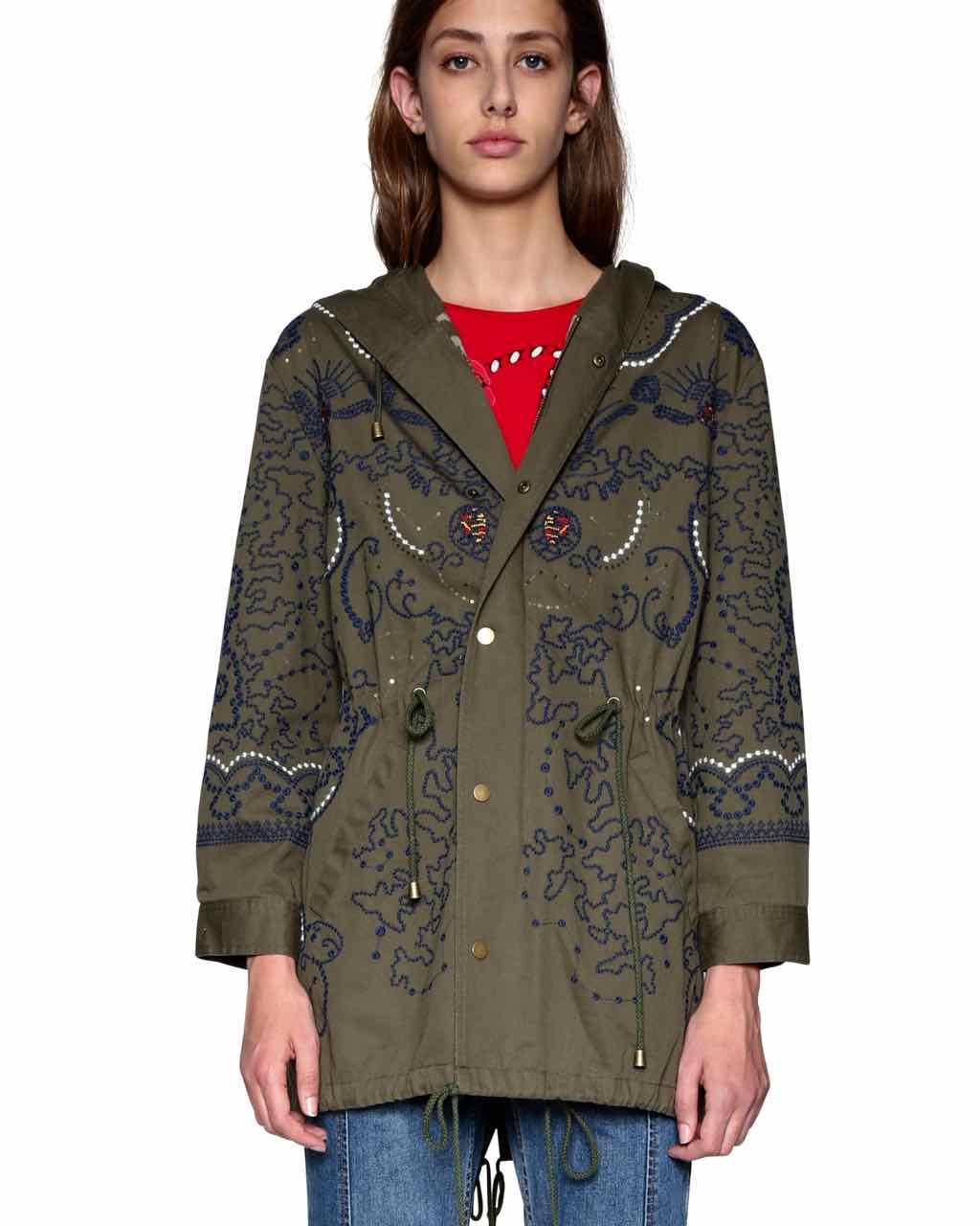 18SWEW60_4003 Desigual Coat Mariette Buy Online