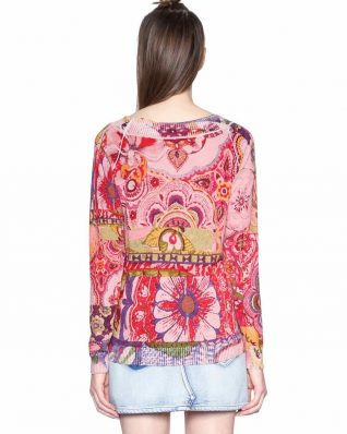 18SWJF70_3049 Desigual sweater Purpura (rose) Canada