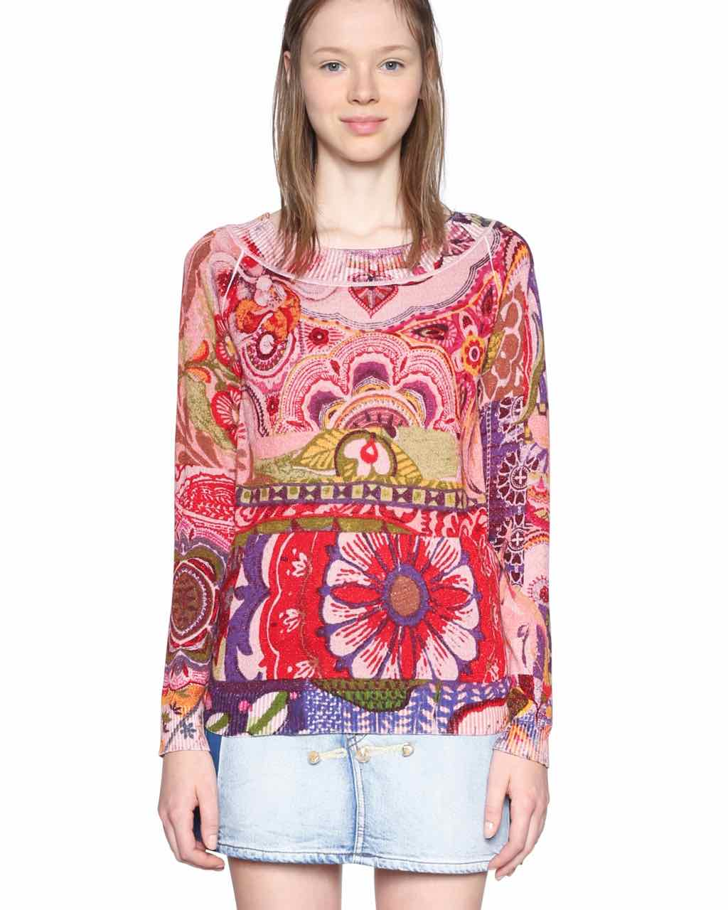 18SWJF70_3049 Desigual sweater Purpura (rose) Buy Online
