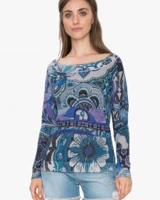 18SWJF70_5000 Desigual sweter Purpura (navy) Buy Online