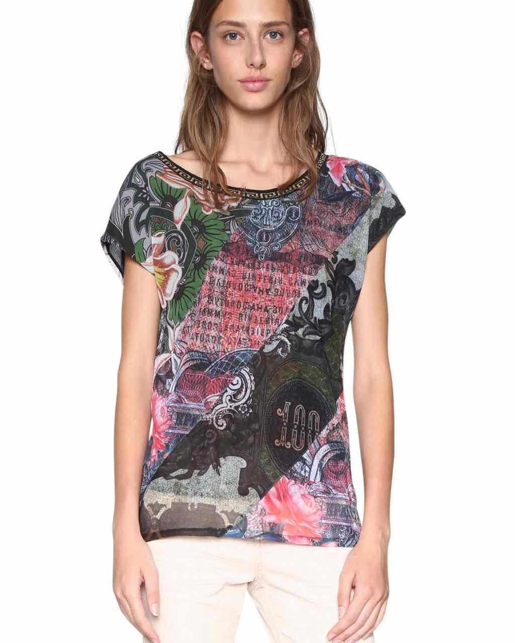 18SWTKFS_3015 Desigual T-Shirt Denes Buy Online