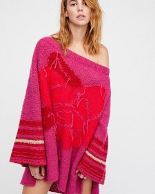 Free People Last Rose Sweater Pink