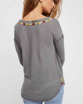 Free People Grey Rainbow Thermal