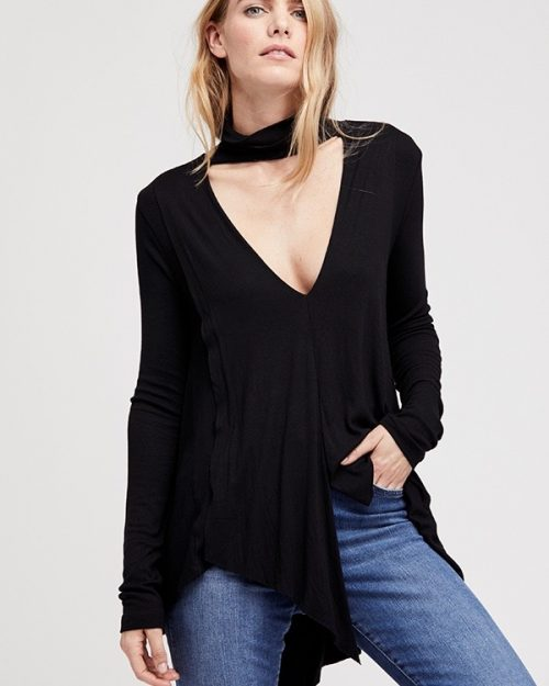 Free People Uptown Turtleneck Black