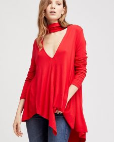 Free people Uptown Turtleneck Red