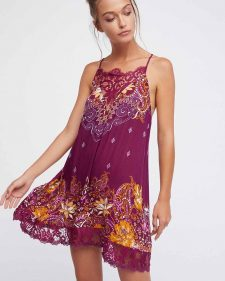 Free People How's Sorry Now slip burgundy