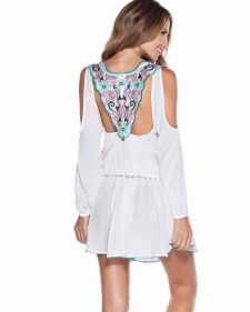 Ondademar White Tunic with Embroidery