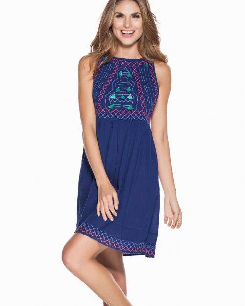Ondademar Blue Cotton Dress