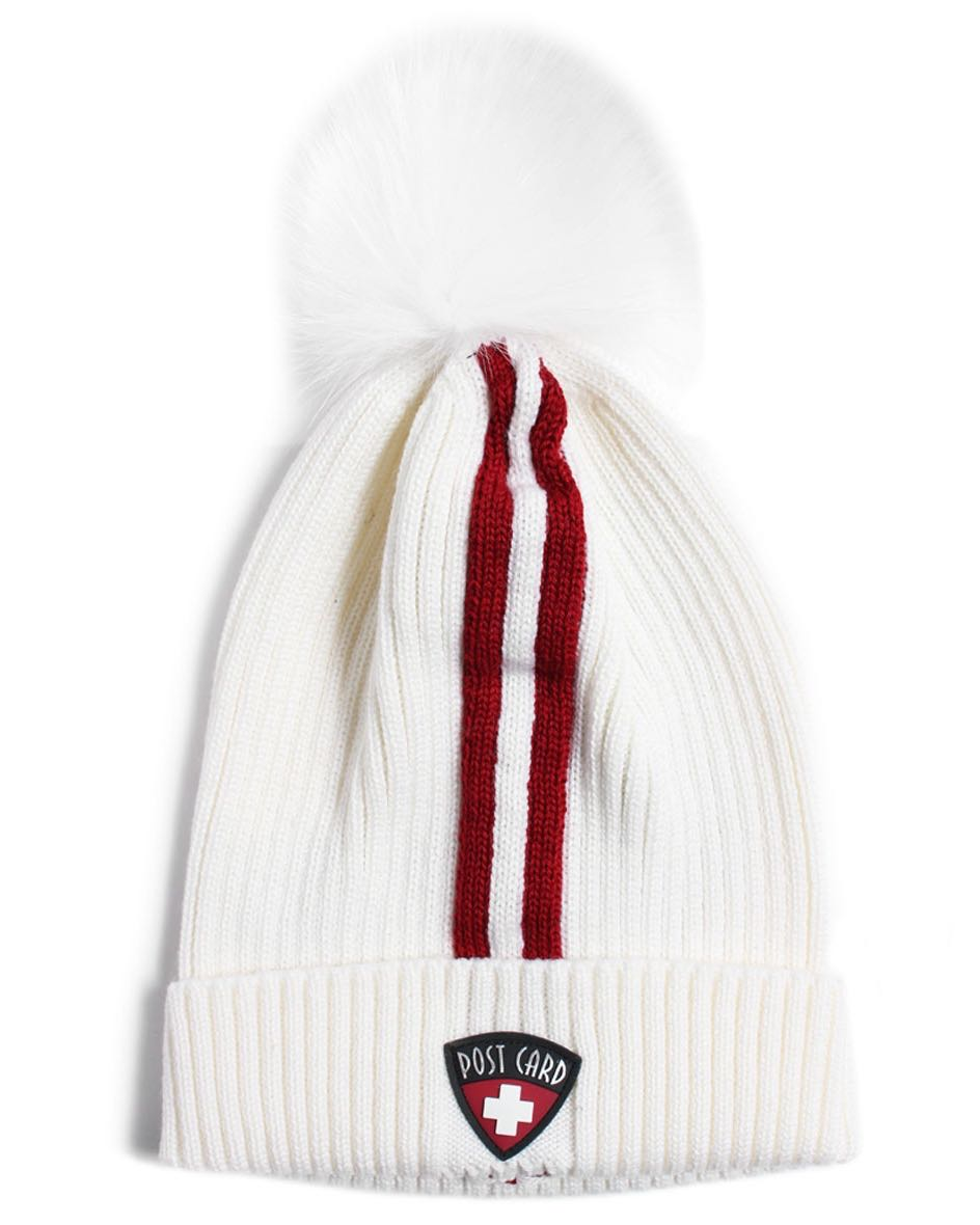 Post Card White Hat with Red Stripe Buy Online