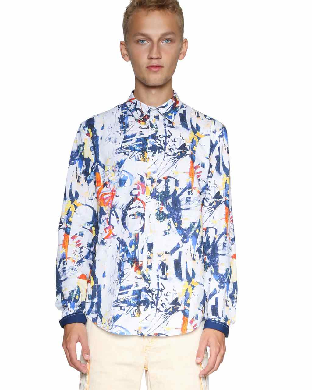 Desigual Men Shirt Multicolour Izan
