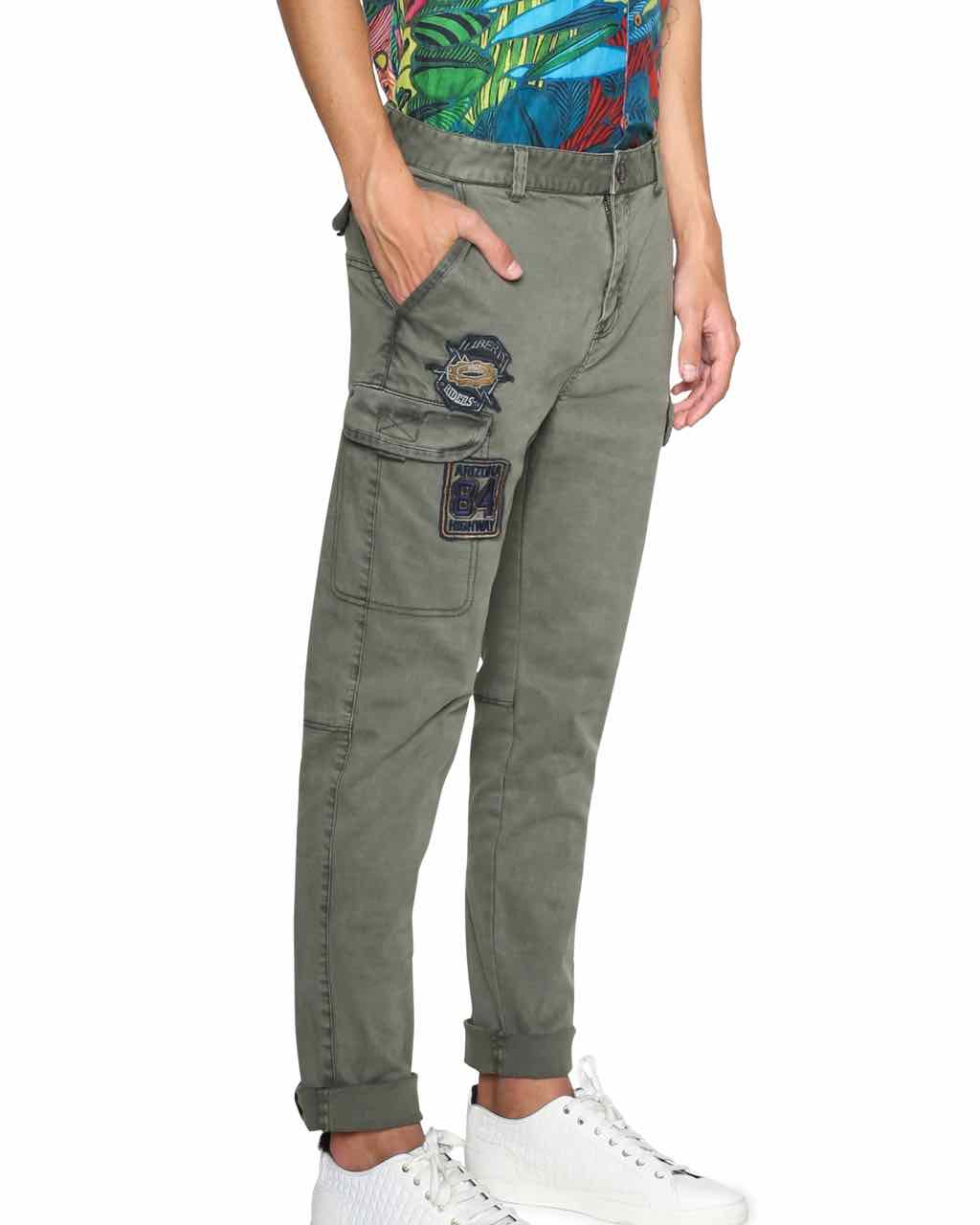 Desigual Men Pants with Embroidery