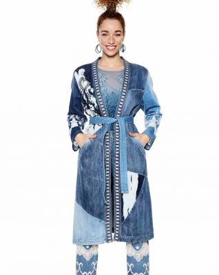 18SWED47_5183 Desigual Long Denim Jacket Martha Buy Online