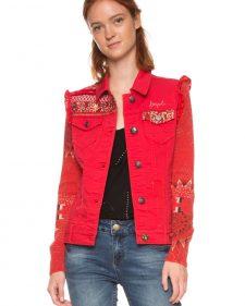 Desigual Denim Red Jacket