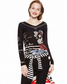 18SWJF69_2000 Desigual Sweater SYLVATICA Buy Online