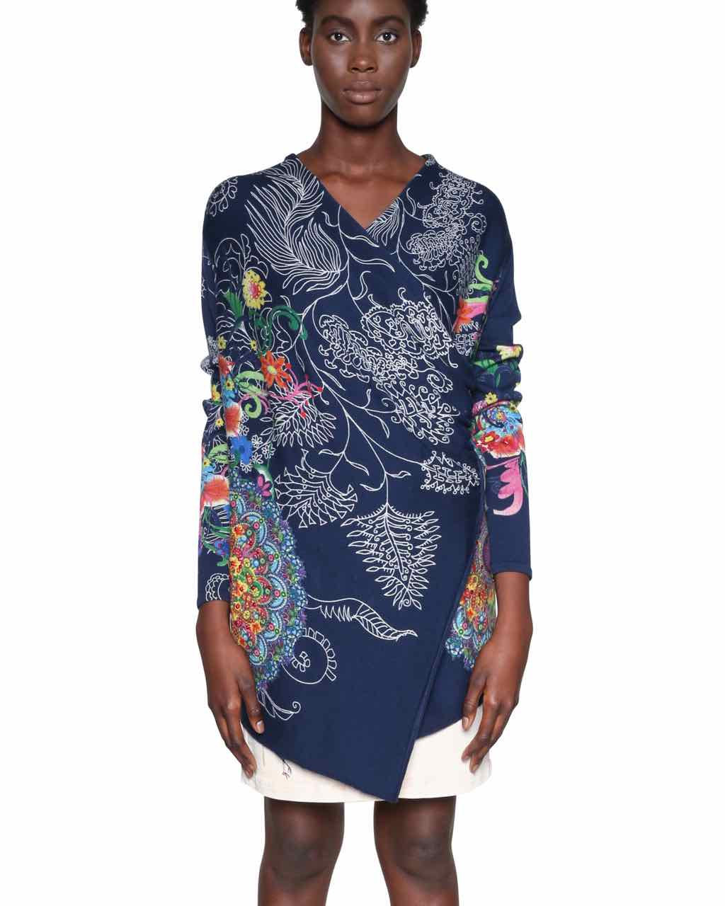 18SWJFB4_5010 Desigual Cardigan Sweater Chrys Buy Online