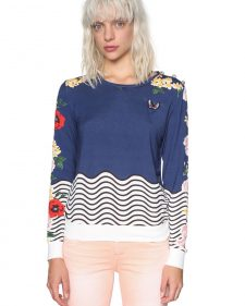 18SWSK29_5000 Desigual sweater All By Myself By Online