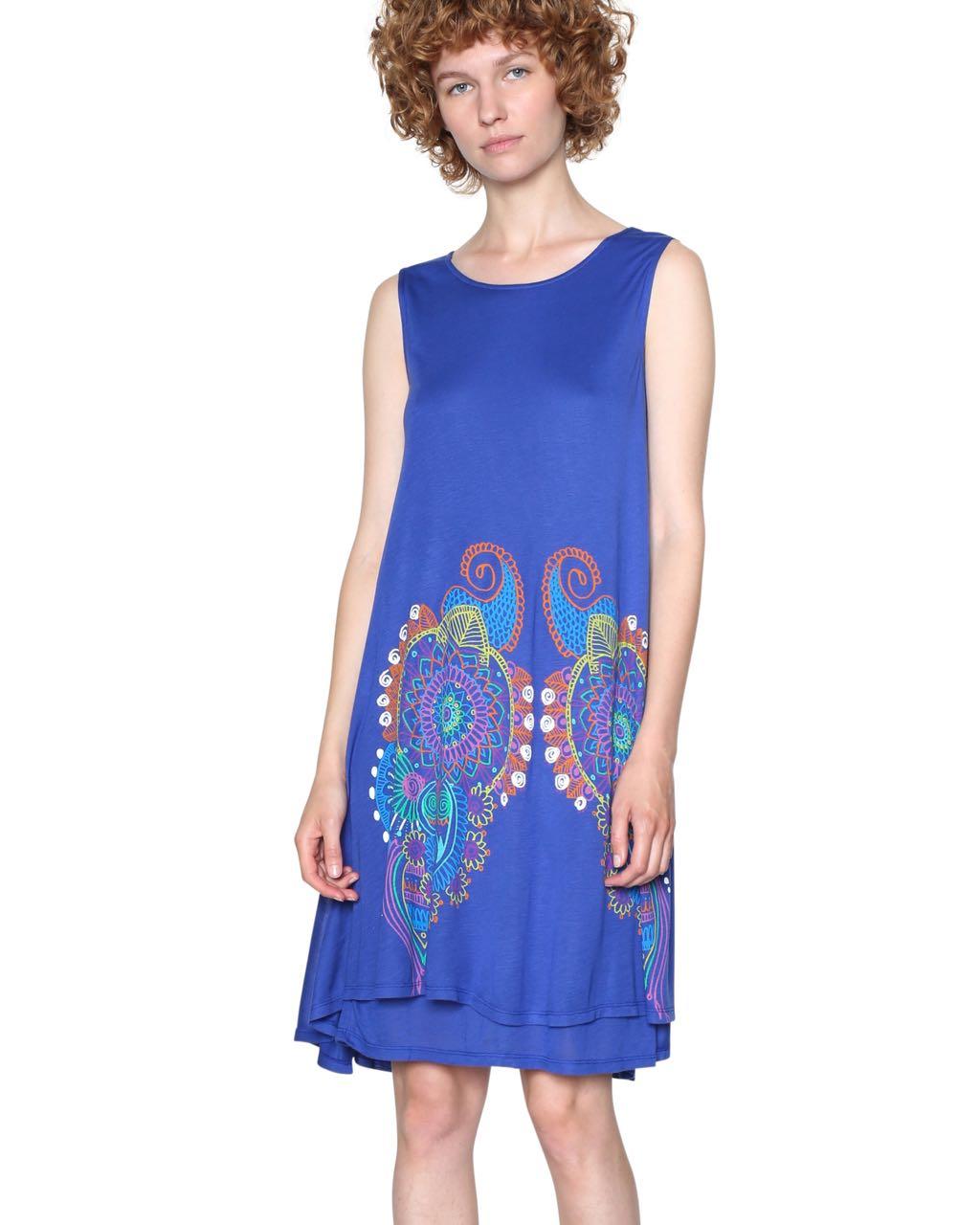 18SWVKAA_5202 Desigual Blue Dress Erica Buy Online