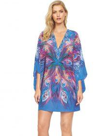 Gottex Kimono Blue Silk