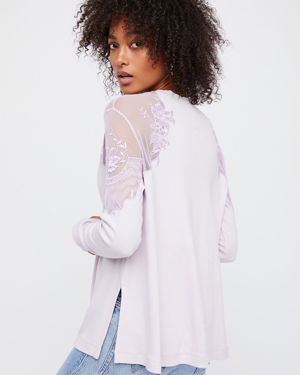Free People DANIELLA TOP Lilac OB690487
