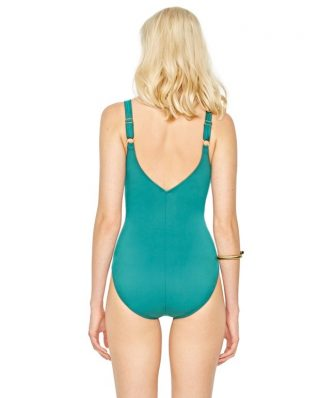 Gottex One Piece with Lacing Aqua Green