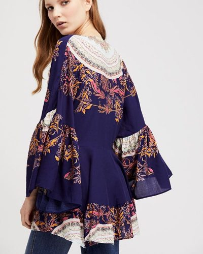 Free People Sunset Dreams Top Blue