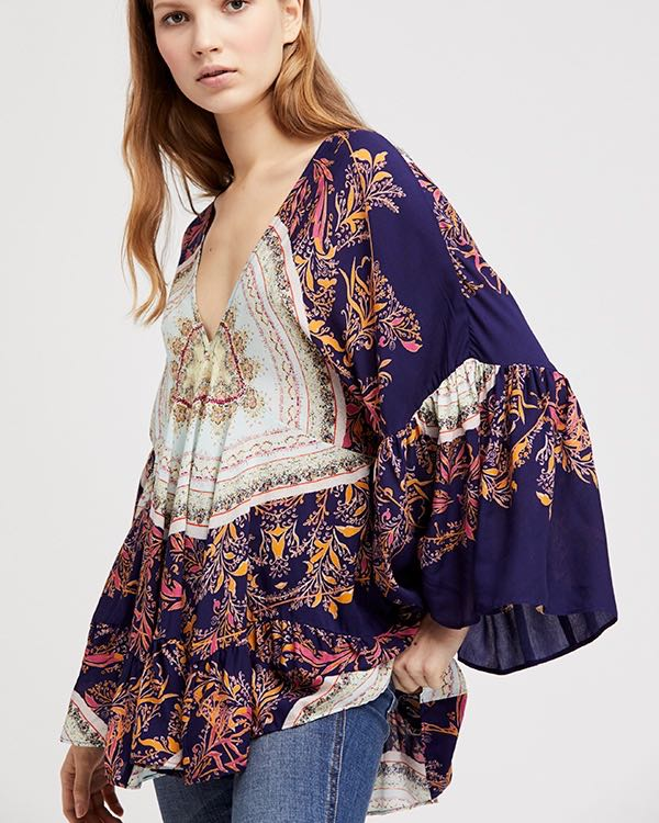 Free People Sunset Dreams Printed Tunic