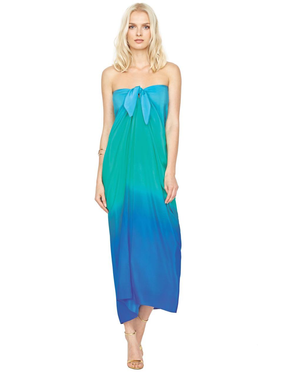 Gottex Silk Pareo Blue Aqua